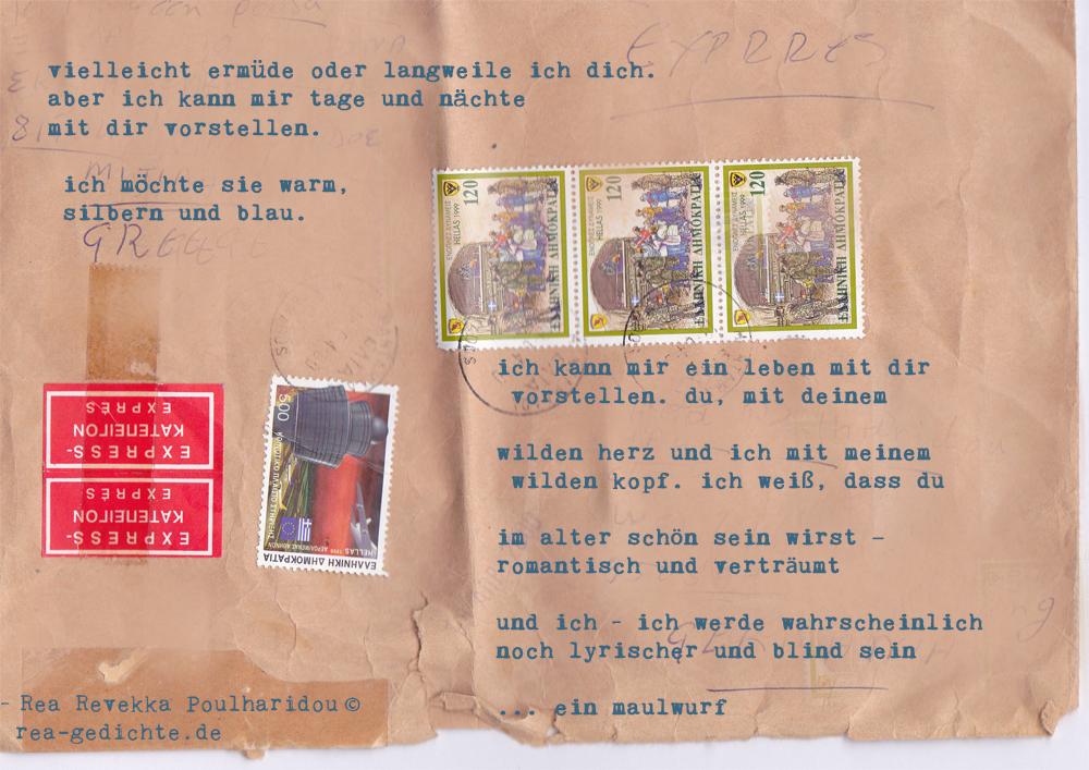 brief aus dem blau - Gedicht von Rea Revekka Poulharidou