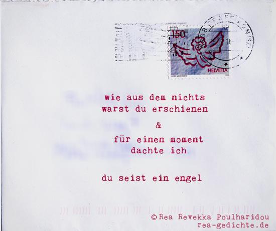 engel - Briefgedicht von Rea Revekka Poulharidou