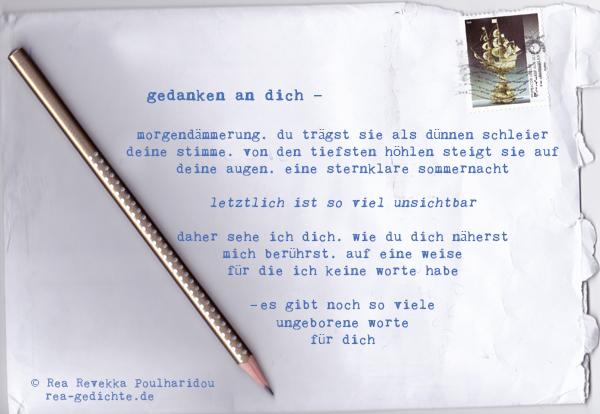 gedanken an dich - Briefgedicht von Rea Revekka Poulharidou