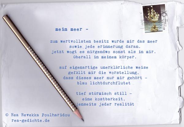 mein meer - Briefgedicht von Rea Revekka Poulharidou