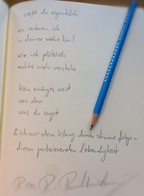 weißt du eigentlich - Gedicht von Rea Revekka Poulharidou