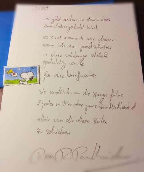 post - Briefgedicht von Rea Revekka Poulharidou